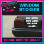 CARAVAN FUNNY JOKE CAR WINDOW VINYL STICKER DECAL GRAPHICS